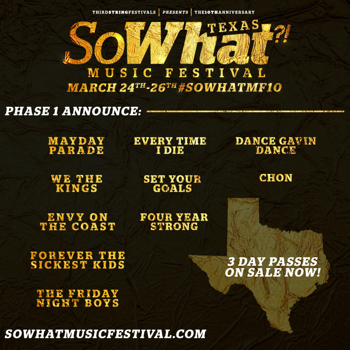 So What?! Music Festival Announces First 10 Bands For 10 Year Anniversary!